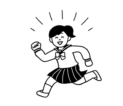 Running female student (simple)