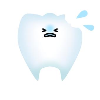 빠진 치아의 캐릭터 (윤곽선 없음)
