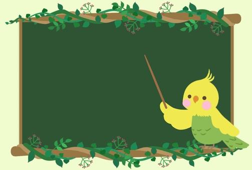 Bird's teacher (blackboard + dividing stick)
