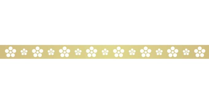 Japanese pattern plum flower line