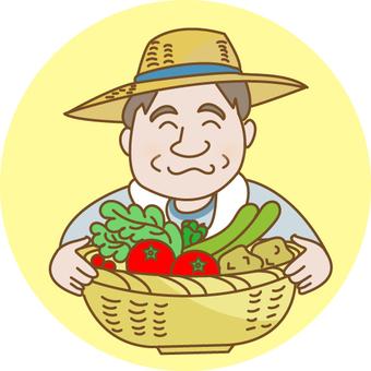 야채를 만드는 할아버지