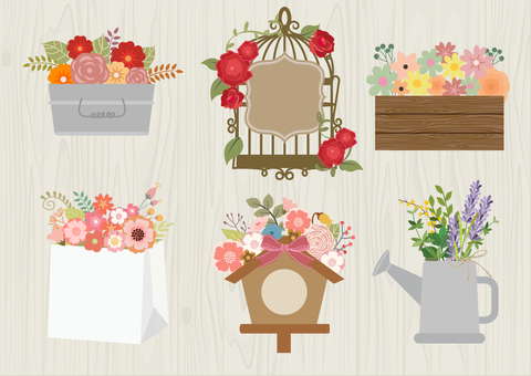 Flower illustrations that may be used for gifts