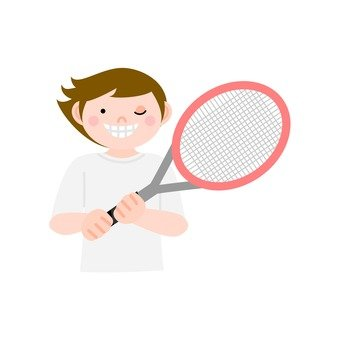 Men with tennis rackets 1
