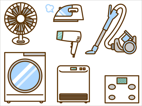 Home Appliances (Fan, Washing Machine, Vacuum Cleaner, Hair Dryer