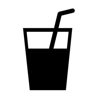Drink Silhouette with Straw