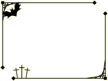 Halloween decorative frame 1 (black)