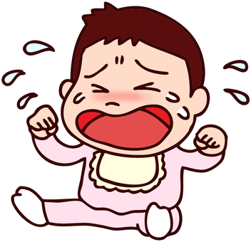 Illustration of a crying baby