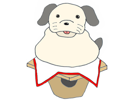 Kagami cake (dog)
