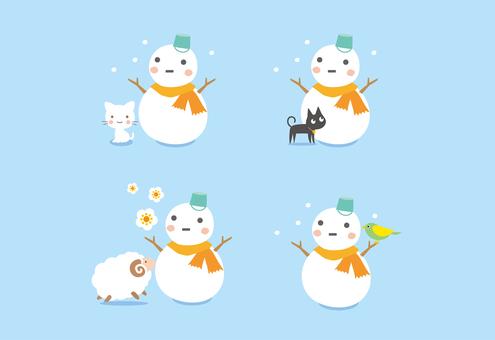 Various snowmen