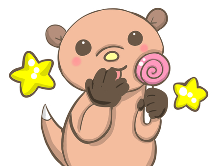 Otter to eat candy