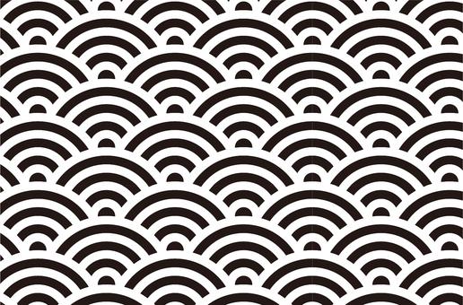 定番!青海波・波模様パターン
