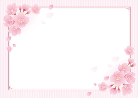 벚꽃 장식 프레임