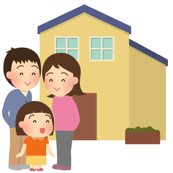 Illustrations of parent and child