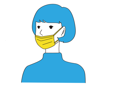 Person with nose out of mask