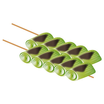 Grilled skewers and rafts