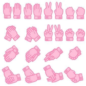 手套(粉紅色)