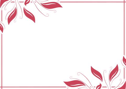 잔디 장식 프레임 빨간색 B