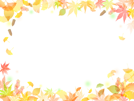 Autumn leaves Ginkgo Background-8
