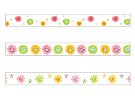 Masking tape series Flower