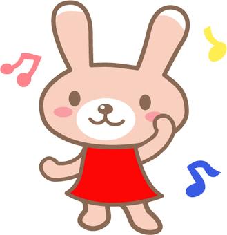 Um coelho de dança