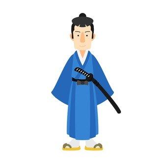 Samurai, eyes stand, whole body