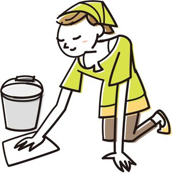 Women who wipe clean