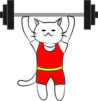 Nyanko's weightlifting