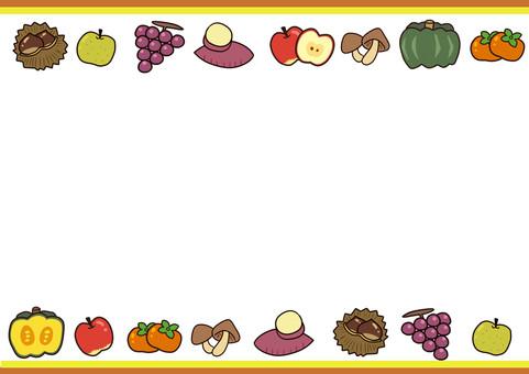 秋の食べ物(旬)フレーム
