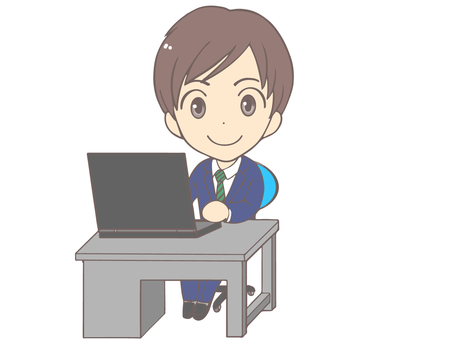 Office worker in computer work