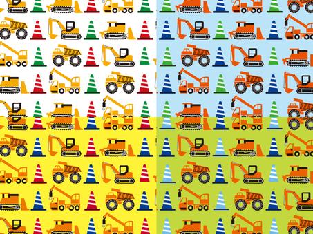 Construction vehicle pattern