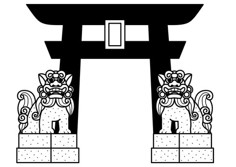 Torii and Guardian Dog 1c