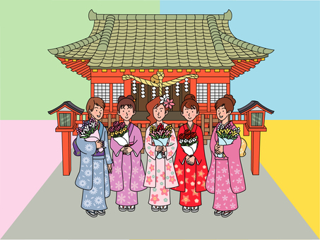 Adult women of Hatsumodei