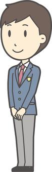 High school student blazer male-241-whole body