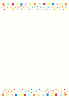 Polka dot frame vertical type