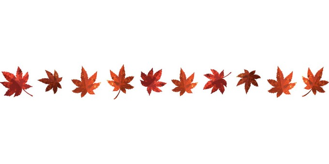 Autumn material (autumn leaves 1 red · line)
