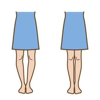 O-leg skirt