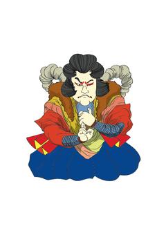 Ukiyoe style style character