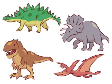 恐龍手寫素材可愛簡約