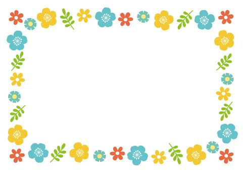 Scandinavian style flower frame