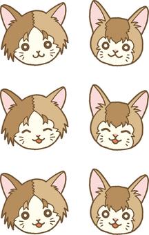 Kittens face set 1