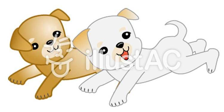 子犬のイラスト02のイラスト