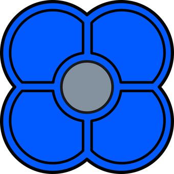 Ohajiki藍色(用於每個與彩色視覺兼容的屏幕)