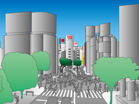 Tokyo famous spot (5) Shibuya intersection 109