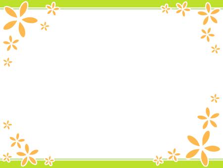 꽃의 단순 프레임 6