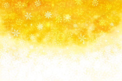 Snow background yellow