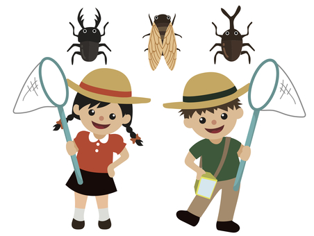Summer vacation-insect removal