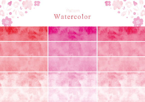 Watercolor pattern swatch part 2 pink