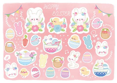 Easter illustration set