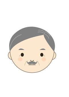 Grandfather expressionless