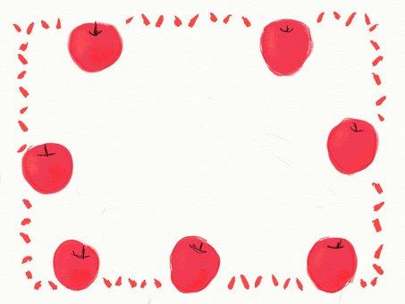 元気なリンゴのフレーム